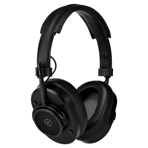 Master & Dynamic - MH40 Wireless - Metallo Nero / Tela Nera - Cuffie Auricolari Premium di Alta Qualità ad Alte Prestazioni