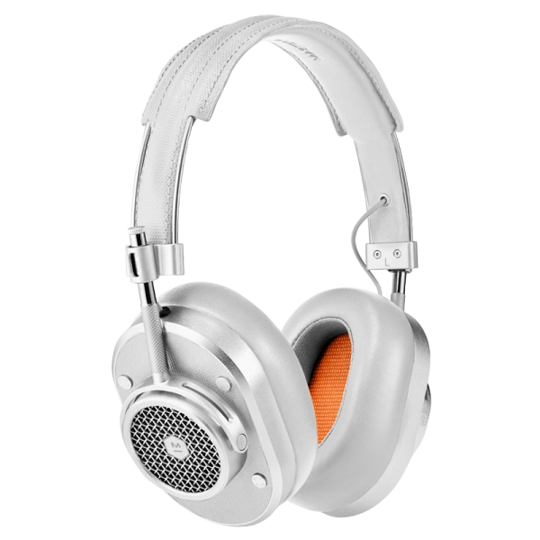 Master & Dynamic - MH40 Wireless - Silver Metal / Silver Canvas - Premium High Quality and Performance Over-Ear Headphones