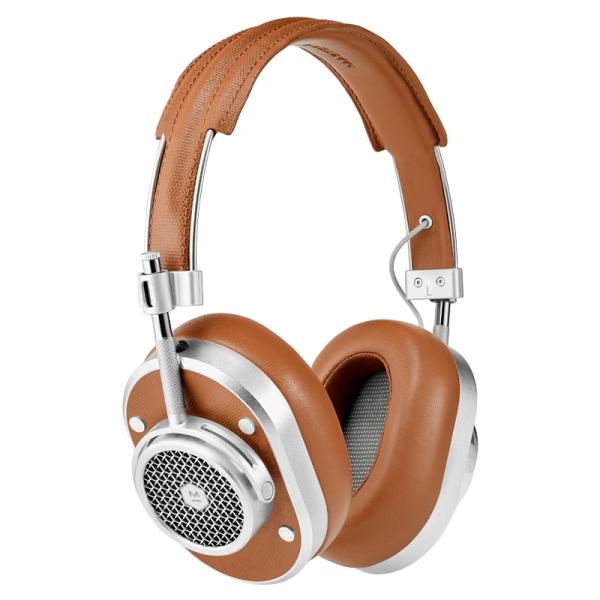 Master & Dynamic - MH40 Wireless - Metallo Argento / Tela Marrone - Cuffie Auricolari Premium di Alta Qualità Alte Prestazioni