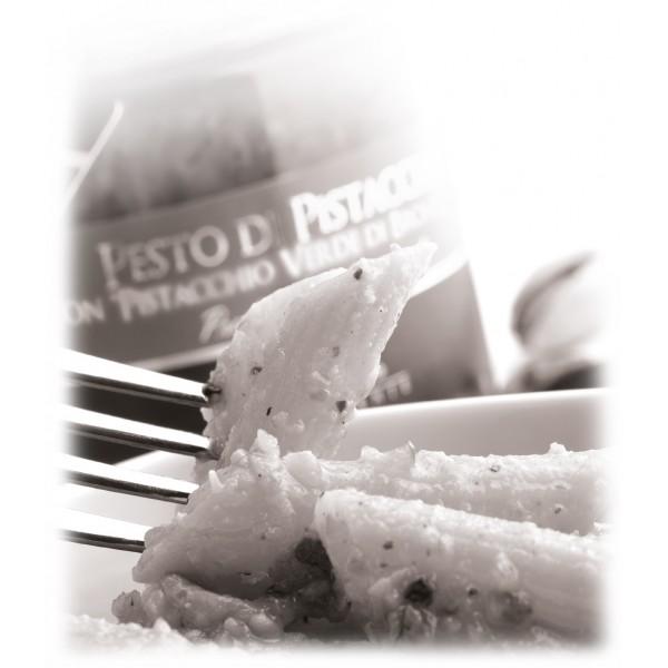 Vincente Delicacies - Pesto di Pistacchio Verde di Bronte D.O.P. - Pesti Gastronomici Artigianali - 90 g