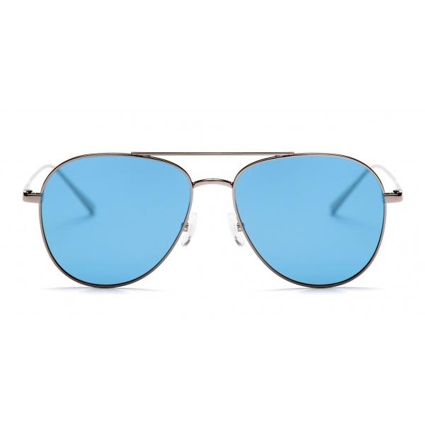No Logo Eyewear - NOL18017 Sun - Azzurro e Canna di Fucile - Occhiali da Sole