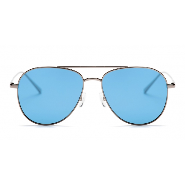 No Logo Eyewear - NOL18017 Sun - Light Blue and Gunmetal -  Sunglasses