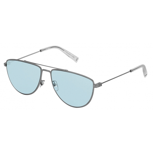Givenchy - Sunglasses GV Cut in Metal - Ruthenium Blue - Sunglasses - Givenchy Eyewear
