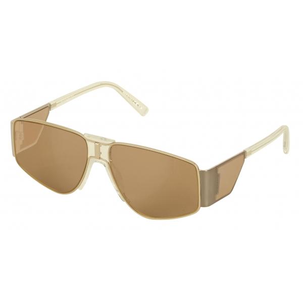 Givenchy - Occhiali da Sole Unisex GV Vision in Metallo - Oro Marroni - Occhiali da Sole - Givenchy Eyewear