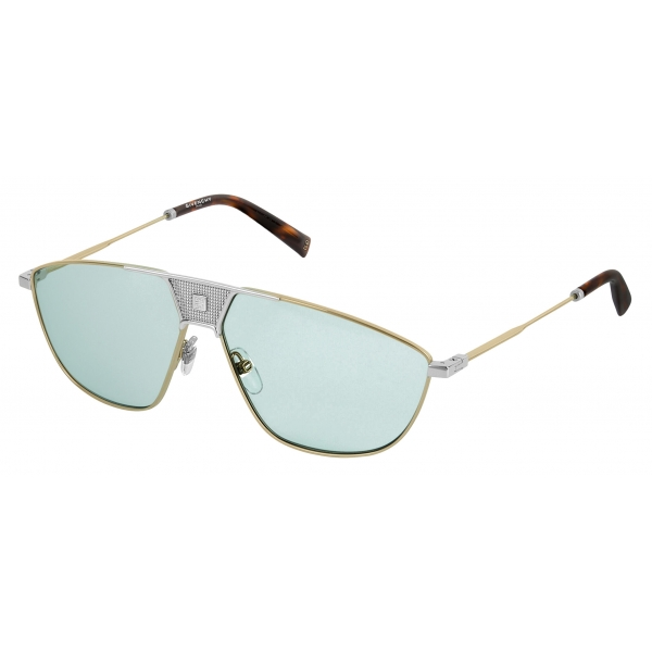Givenchy - Sunglasses Unisex GV Mesh in Metal - Gold Blue - Sunglasses - Givenchy Eyewear