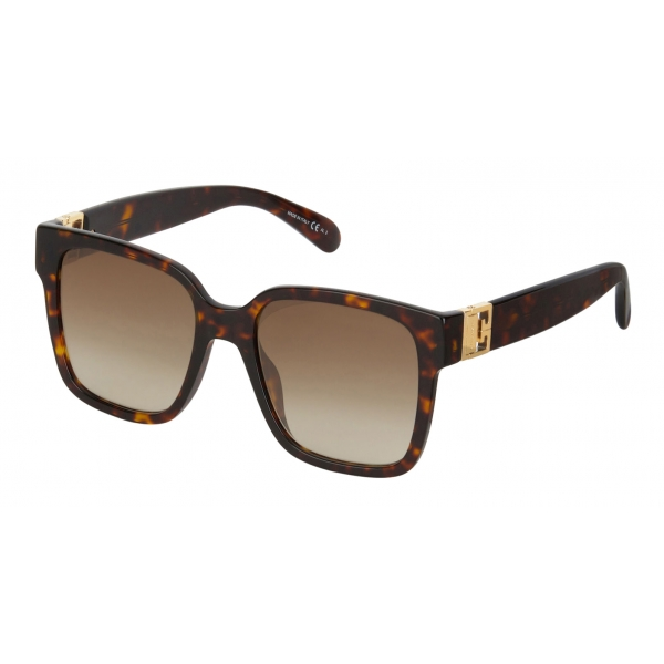 Givenchy - Occhiali da Sole Quadrati GV3 in Acetato - Havana Scuro Marroni - Occhiali da Sole - Givenchy Eyewear