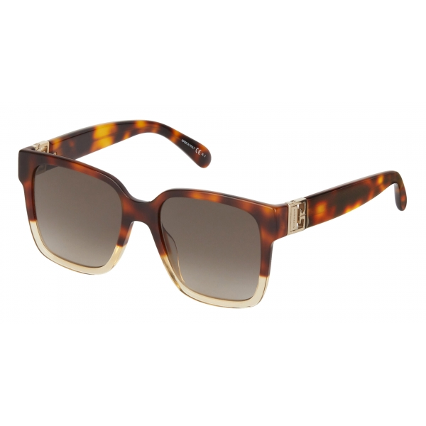 Givenchy - Sunglasses Two Tone GV3 Square in Acetate - Havanna Honey Brown - Sunglasses - Givenchy Eyewear
