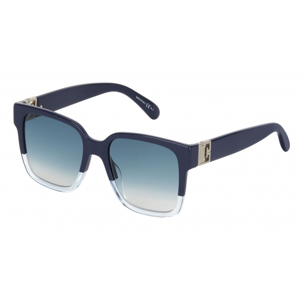 Givenchy - Occhiali da Sole Quadrati GV3 Bicolore in Acetato - Blue Scuro - Occhiali da Sole - Givenchy Eyewear