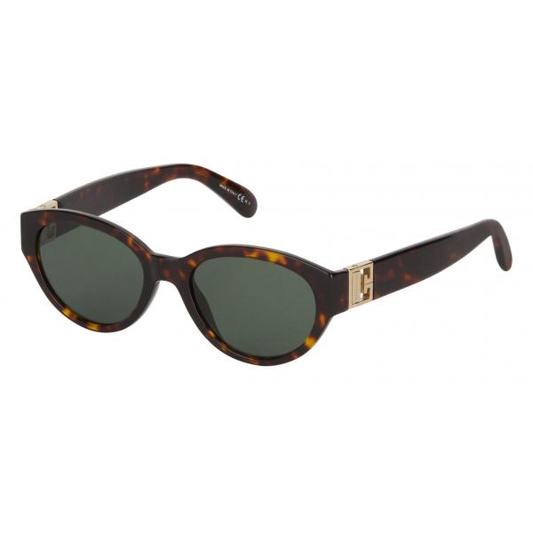 Givenchy - Occhiali da Sole Tondi GV3 in Acetato - Havana Scuro Verde - Occhiali da Sole - Givenchy Eyewear