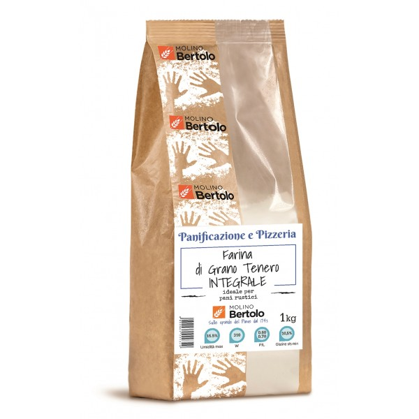 Molino Bertolo - Wholewheat Flour - Soft Wheat - 1 Kg