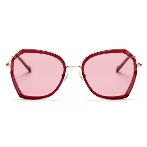 No Logo Eyewear - NOL19007 Sun - Pink and Bordeaux  -  Sunglasses