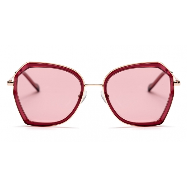No Logo Eyewear - NOL19007 Sun - Rosa e Bordeaux  - Occhiali da Sole