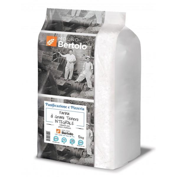 Molino Bertolo - Farina Integrale di Grano Tenero - 5 Kg
