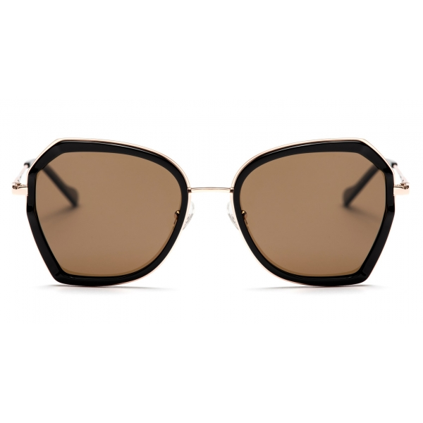 No Logo Eyewear - NOL19007 Sun - Brown and Black -  Sunglasses