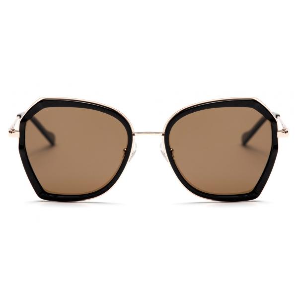No Logo Eyewear - NOL19007 Sun - Marrone e Nero  - Occhiali da Sole