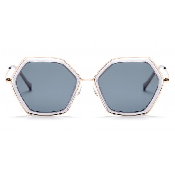 No Logo Eyewear - NOL19008 Sun - Blu e Grigio - Occhiali da Sole