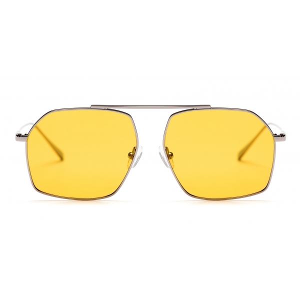 No Logo Eyewear - NOL18066 Sun - Yellow and Silver -  Sunglasses