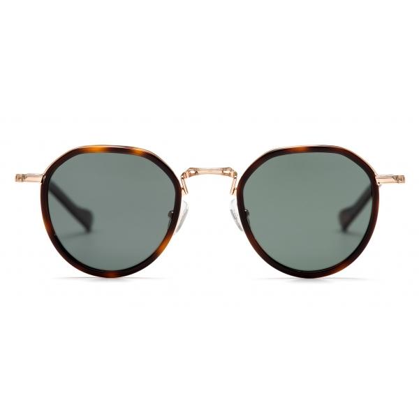 No Logo Eyewear - NOL19011 Sun - Dark Green and Havana -  Sunglasses