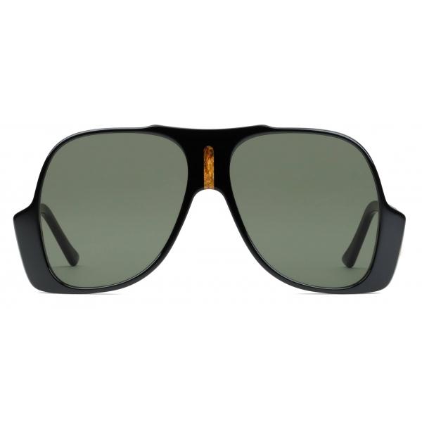Gucci - Occhiali da Sole Aviatore - Nero - Gucci Eyewear