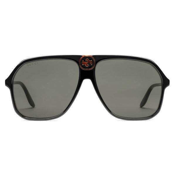 Gucci - Occhiali da Sole Aviatore in Acetato - Marrone - Gucci Eyewear