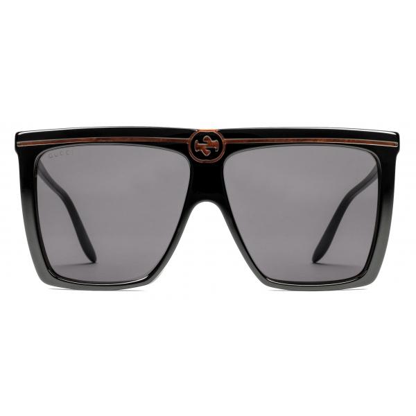 Gucci - Square Acetate Sunglasses - Black - Gucci Eyewear