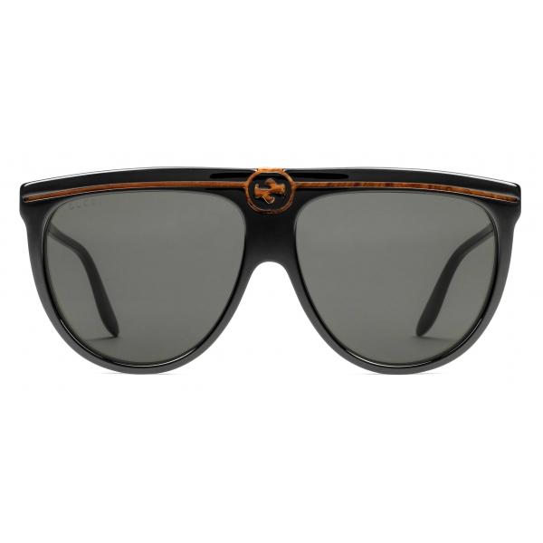 Gucci - Occhiali da Sole Aviatore in Acetato - Nero - Gucci Eyewear