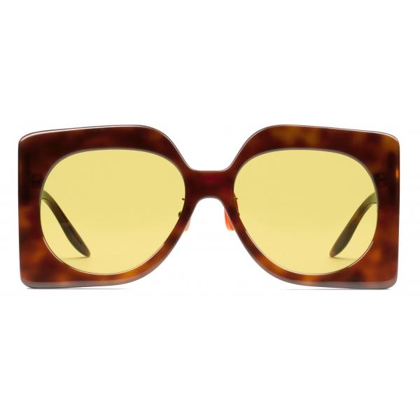 Gucci - Occhiali da Sole Quadrati - Tartaruga - Gucci Eyewear