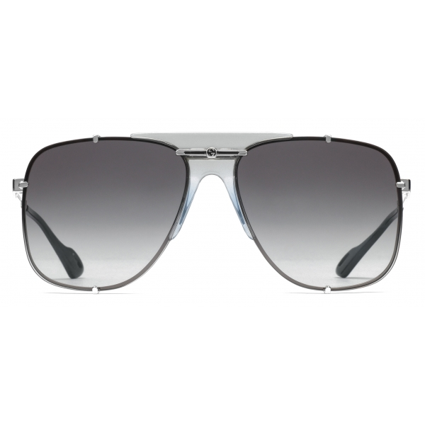 Gucci - Aviator Metal Sunglasses - Silver - Gucci Eyewear