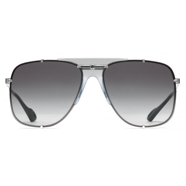 Gucci - Occhiali da Sole Aviator in Metallo - Argento - Gucci Eyewear