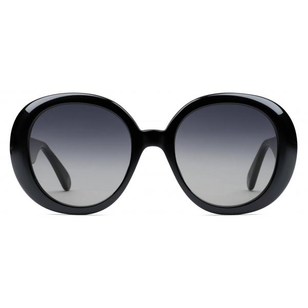 Gucci - Occhiali da Sole Rotondi con Motivo Web - Nero - Gucci Eyewear