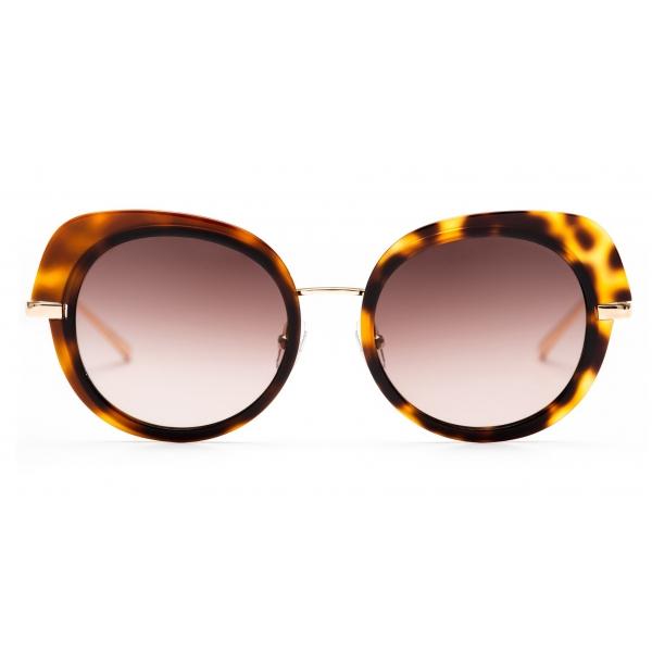 No Logo Eyewear - NOL81032 Sun - Havana e Oro - Occhiali da Sole