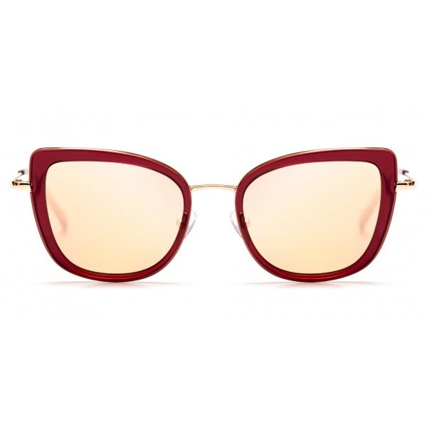 No Logo Eyewear - NOL81034 Sun - Rosso e Oro - Occhiali da Sole