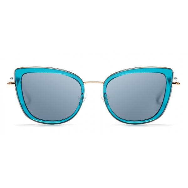 No Logo Eyewear - NOL81034 Sun - Azzurro e Oro - Occhiali da Sole