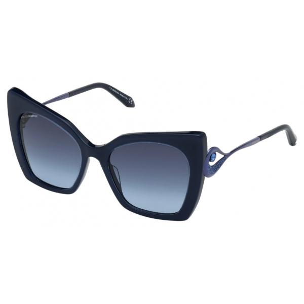 Swarovski - Occhiali da Sole Tigris - SK0271-P 90W - Blu - Occhiali da Sole - Swarovski Eyewear