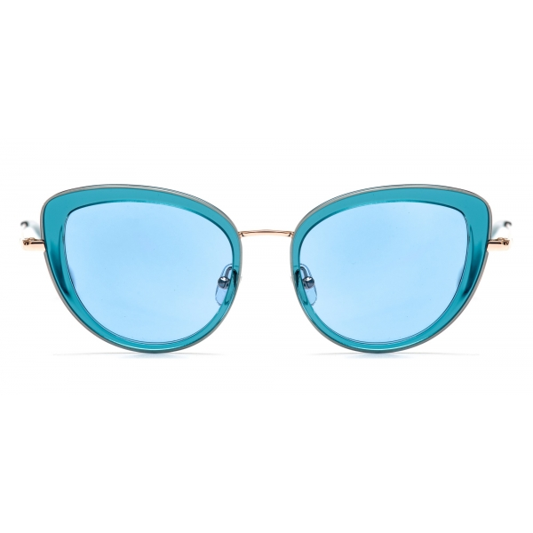 No Logo Eyewear - NOL81035 Sun - Azzurro e Oro - Occhiali da Sole