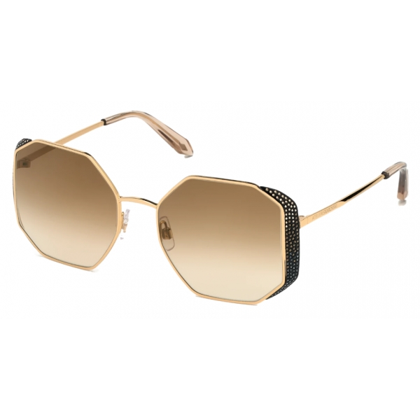 Swarovski - Moselle Octogonal Sunglasses - SK238-P 30G - Brown - Sunglasses - Swarovski Eyewear