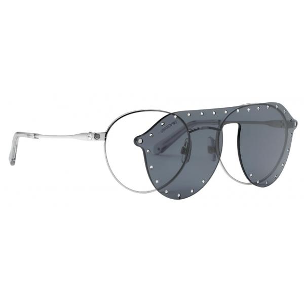 Swarovski - Occhiali da Sole Swarovski con Maschera a Scatto - SK0275-H 52016 - Grigio - Occhiali da Sole - Swarovski Eyewear