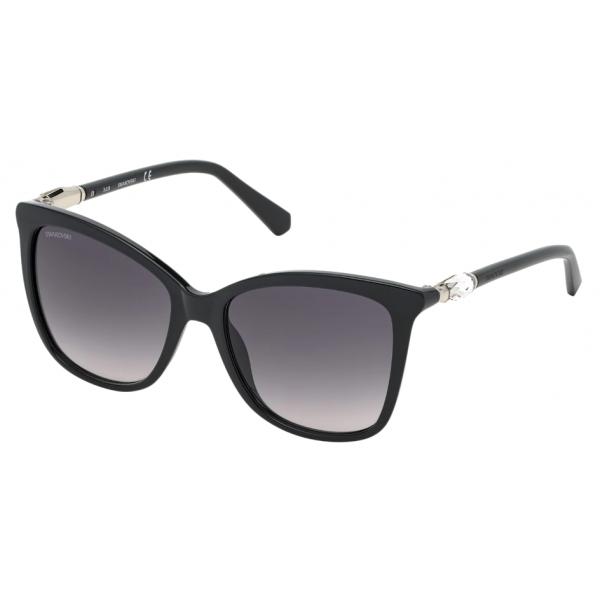 Swarovski - Swarovski Sunglasses - SK0227-01B - Black - Sunglasses - Swarovski Eyewear