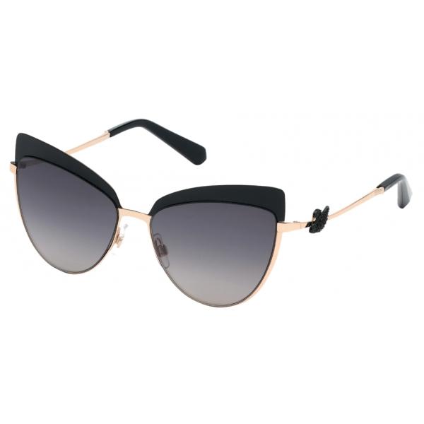 Swarovski - Swarovski Sunglasses - SK0220-05B - Black - Sunglasses - Swarovski Eyewear