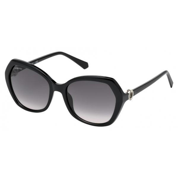 Swarovski - Occhiali da Sole Swarovski - SK0165 - 01B - Nero - Occhiali da Sole - Swarovski Eyewear