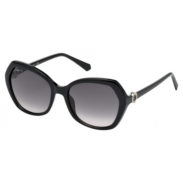 Swarovski - Swarovski Sunglasses - SK0165 - 01B - Black - Sunglasses - Swarovski Eyewear
