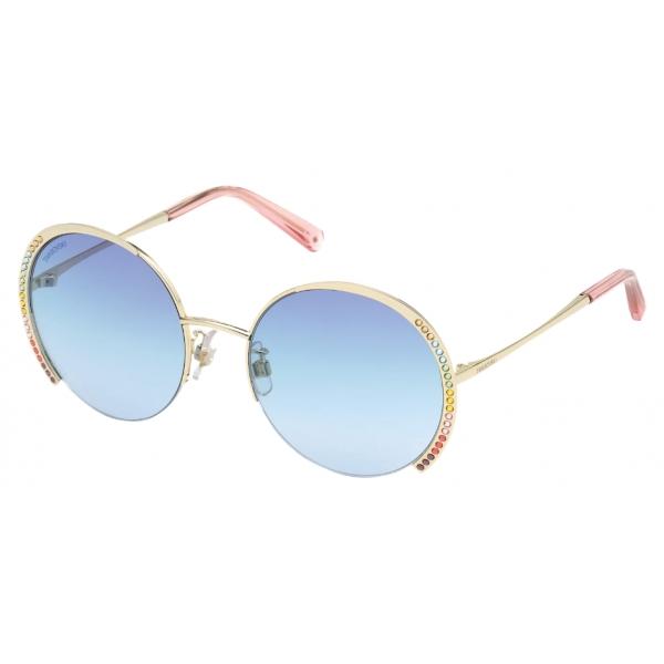 Swarovski - Occhiali da Sole Swarovski - SK0280-H 32W - Blu - Occhiali da Sole - Swarovski Eyewear