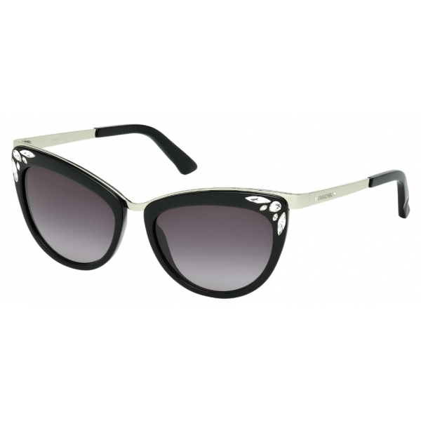 Swarovski - Fortune Sunglasses - SK0102-F 01B - Black - Sunglasses - Swarovski Eyewear