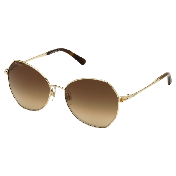 Swarovski - Swarovski Sunglasses - SK266 - 32G - Brown - Sunglasses - Swarovski Eyewear