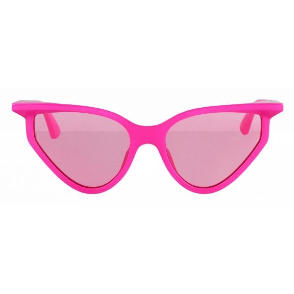 Balenciaga - Rim Cat Sunglasses - Fuchsia - Sunglasses - Balenciaga Eyewear
