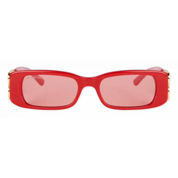 Balenciaga - Dynasty Rectangle Sunglasses - Red - Sunglasses - Balenciaga Eyewear