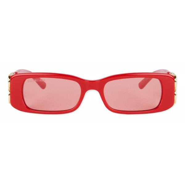 Balenciaga - Occhiali da Sole Dynasty Rectangle - Rosso - Occhiali da Sole - Balenciaga Eyewear