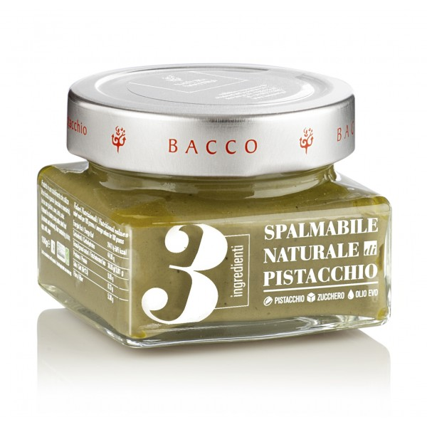 Bacco - Tipicità al Pistacchio - Natural Cream 3 Ingredients with Pistachio from Bronte - Artisan Spreadable Creams - 150 g
