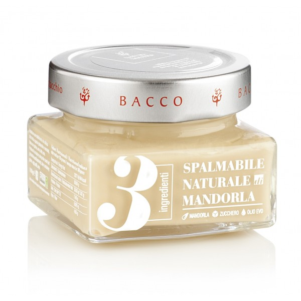 Bacco - Tipicità al Pistacchio - Crema Naturale 3 Ingredienti - Mandorla - Creme Spalmabili Artigianali - 150 g