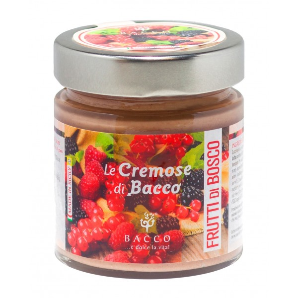 Bacco - Tipicità al Pistacchio - Le Cremose di Bacco - Frutti di Bosco - Creme Spalmabili Artigianali - 190 g